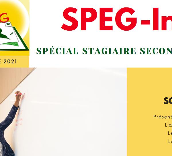 SPEG-Info Spécial Stagiaire – Septembre 2021