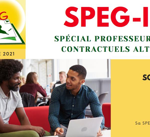 SPEG-Info Spécial Professeurs et CPE contractuels alternants
